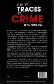 Sur les traces du crime - 4ème de couverture - Format classique