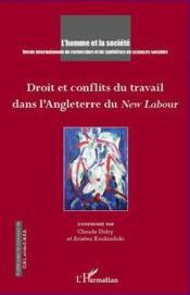 Droit et conflits du travail dans l'Angleterre du New Labour - Couverture - Format classique