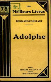 Adolphe. Collection : Les Meilleurs Livres N° 10. - Couverture - Format classique
