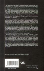 Mémoires de Maria Brown - 4ème de couverture - Format classique