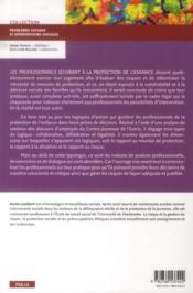 Gestion des risques en protection de l'enfance - 4ème de couverture - Format classique