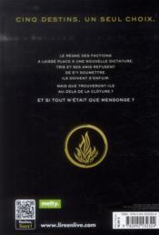 Divergente T.3 ; au-delà du mur - 4ème de couverture - Format classique
