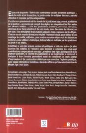 Culture judiciaire - 4ème de couverture - Format classique
