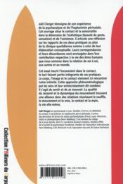 Corps, image et contact ; une présence à l'intime - 4ème de couverture - Format classique