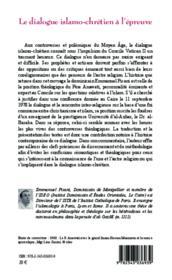 Dialogue islamo-chrétien à l'épreuve ; Père Anawati o.p. - Dr. Baraka, une controverse au vingtième siècle - Couverture - Format classique