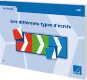 VERITECH ; lire différents types d'écrits ; CM1 - Couverture - Format classique