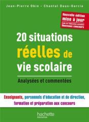 20 situations réelles de vie scolaire - Couverture - Format classique
