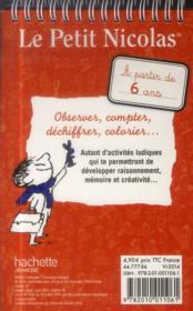 Le Petit Nicolas ; bloc activités - 4ème de couverture - Format classique