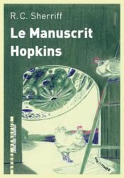 Le manuscrit Hopkins - Couverture - Format classique