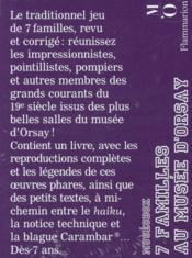 Le jeux de 7 familles au musée d'Orsay - 4ème de couverture - Format classique
