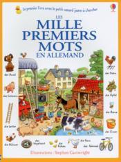 Les mille premiers mots en allemand - Couverture - Format classique