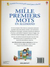 Les mille premiers mots en allemand - 4ème de couverture - Format classique