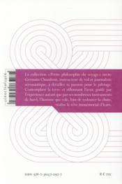 La promesse de l'envol ; petites figures sur les machines volantes et la fascination du ciel - 4ème de couverture - Format classique