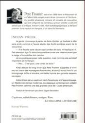 Indian creek - 4ème de couverture - Format classique