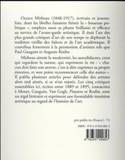 Écrits sur l'art ; Claude Monet, Paul Gauguin, Vincent Van Gogh, Camille Pissarro, Auguste Rodin - 4ème de couverture - Format classique