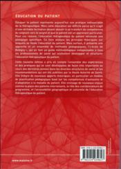Apprendre a eduquer le patient, 5e ed. - 4ème de couverture - Format classique