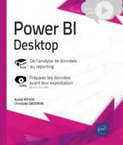 Power BI Desktop ; complément vidéo : préparer les données avant leur exploitation - Couverture - Format classique