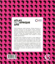 Atlas de l'Afrique AFD ; pour un autre regard sur le continent - 4ème de couverture - Format classique