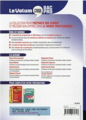Le volum' ; ASSP, accompagnement, soins et services à la personne ; Bac Pro - 4ème de couverture - Format classique