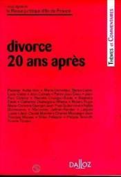 Divorce, 20 Ans Apres - Couverture - Format classique