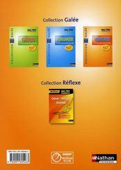 Vendre ; bac pro commerce ; galée ; élève (édition 2008) - 4ème de couverture - Format classique