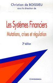 Les systèmes financiers (2e édition) - Couverture - Format classique
