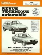 Rta 392.6 Fiat Ritmo Et Regata (78/90) - Couverture - Format classique