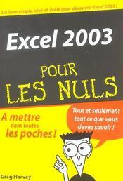 Excel 2003 - Intérieur - Format classique