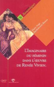 L'Imaginaire Du Feminin Dans L' Uvre De Renee Vivien. De Memoires En Memoire - Intérieur - Format classique