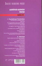 Afp 02 - Psychotherapie Psychanalyse Didactique 2 - 4ème de couverture - Format classique