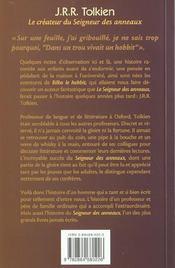 Jrr tolkien, le createur du seigneur des anneaux - 4ème de couverture - Format classique
