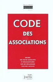 Code des associations. recueil textes legislatifs regl. sur org. sans but lucratif - 2e ed. - Intérieur - Format classique
