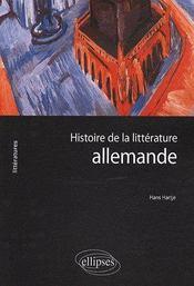 Histoire de la littérature allemande - Couverture - Format classique