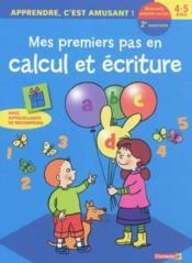 Apprendre, c'est amusant! calcul et ecriture (4-5 a.) - Couverture - Format classique