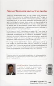 Repenser l'économie - 4ème de couverture - Format classique