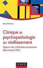 Clinique et psychopathologie du vieillissement ; apport des méthodes projectives (Rorschach, TAT) - Couverture - Format classique
