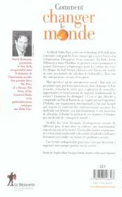 Comment Changer Le Monde - 4ème de couverture - Format classique