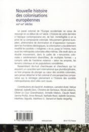 Nouvelle histoire des colonisations européennes (XIXe-XXe siècles) - 4ème de couverture - Format classique