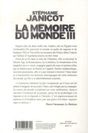 La mémoire du monde t.3 - 4ème de couverture - Format classique