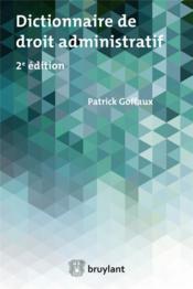 Dictionnaire élémentaire de droit administratif (2e édition) - Couverture - Format classique