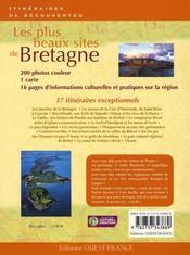 Les plus beaux sites de Bretagne - 4ème de couverture - Format classique