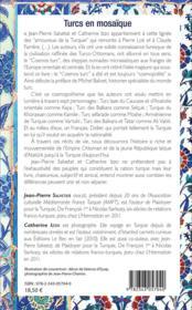 Turcs en mosaïque - 4ème de couverture - Format classique