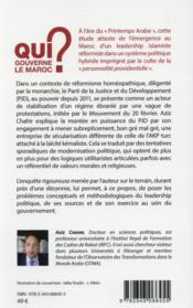 Qui gouverne le Maroc ? étude sociologique du leadership politique - 4ème de couverture - Format classique