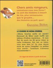 Geronimo Stilton T.1 ; le sourire de Mona Sourisa - 4ème de couverture - Format classique