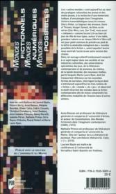 Mondes fictionnels, mondes numériques, mondes possibles ; adolescence et culture médiatique - 4ème de couverture - Format classique