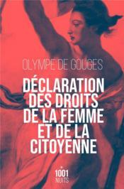 Déclaration des droits de la femme et de la citoyenne - Couverture - Format classique