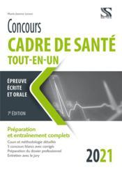 Concours cadre de santé ; tout-en-un (édition 2021) - Couverture - Format classique