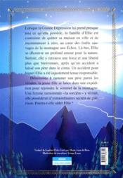 La montagne qui m'a sauvée - 4ème de couverture - Format classique