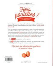 Hello poulettes ! le guide pour accueillir ses premières poules - 4ème de couverture - Format classique