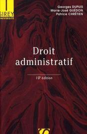 Droit Administratif (10e Edition Universite - Intérieur - Format classique